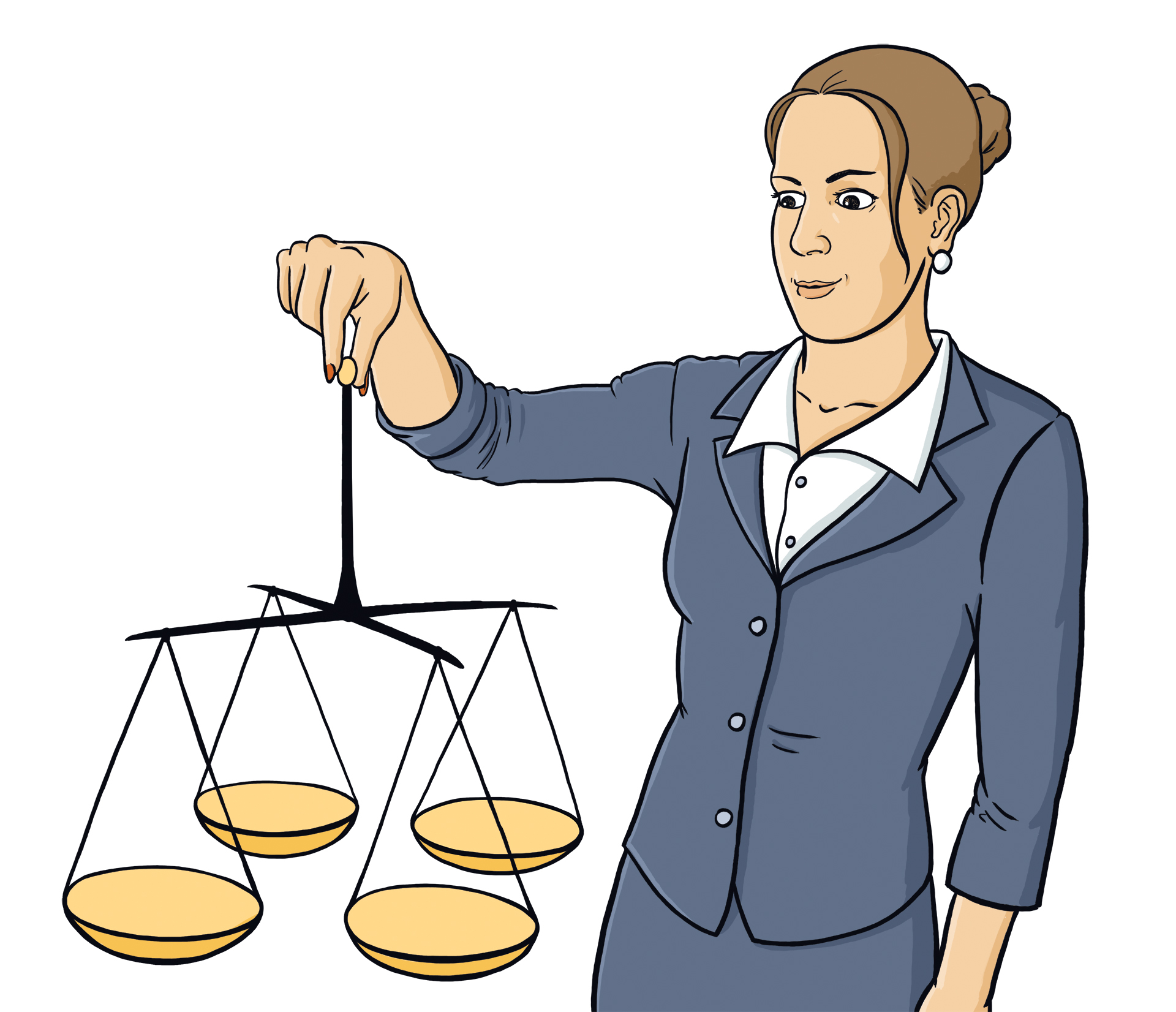 Ilustrace pro portál Vlastní poznání – buďte spravedliví